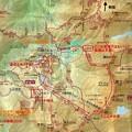 写真: ハイキング+登山ルート地図