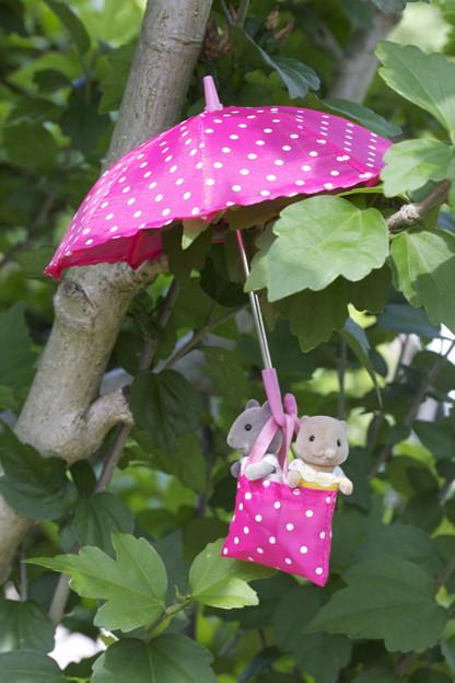 傘でおさんぽ♪