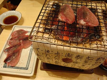 マグロほほ肉の七輪焼き