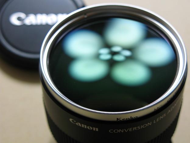 PowerShot G7用コンバージョンレンズアダプタ+クローズアップレンズ