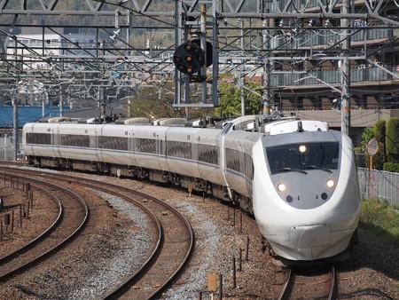 681系特急サンダーバード 東海道本線サントリーカーブ