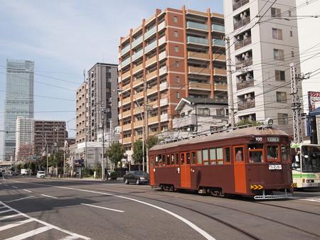 阪堺161形ハルカスバック 上町線阿倍野~松虫