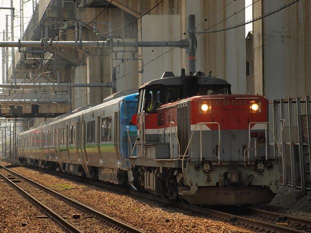 DE10 733系甲種輸送 北方貨物線塚本信号場~吹田操車場