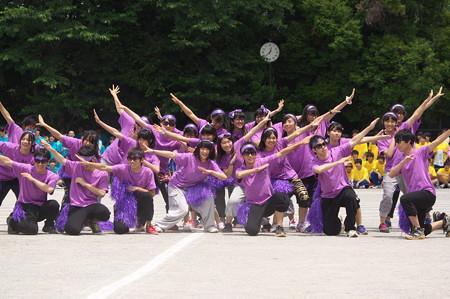 紫団の応援