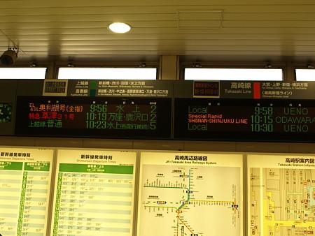 高崎駅案内板