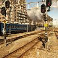 写真: SL奥利根号発車(高崎駅)