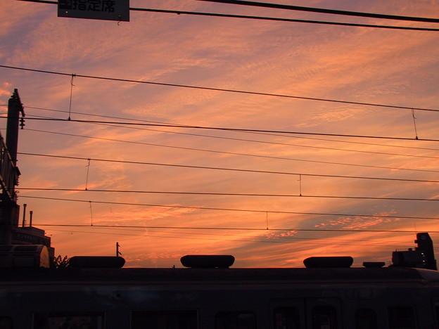 2002 初秋 諏訪 駅 黄昏