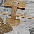 Photos: 下ろした巣と巣台