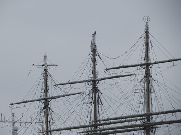 帆船日本丸のマスト