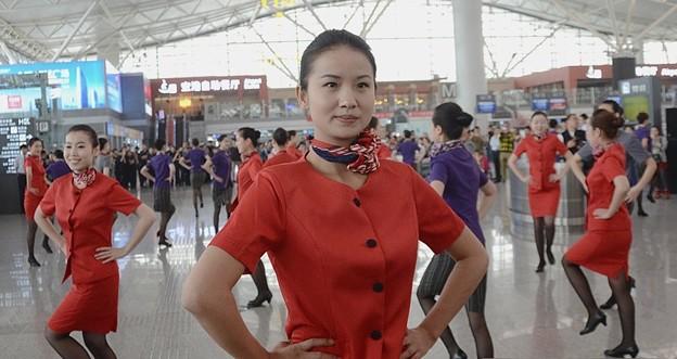 西安空港でフラッシュモブ? (18)