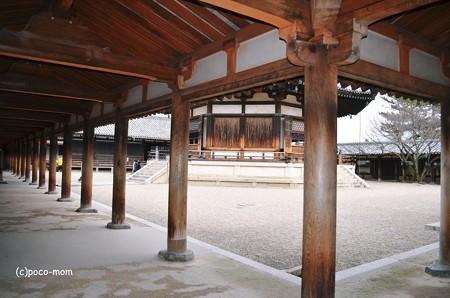 法隆寺東院夢殿回廊2014年02月10日_DSC_0363
