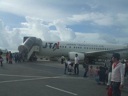 石垣空港に到着