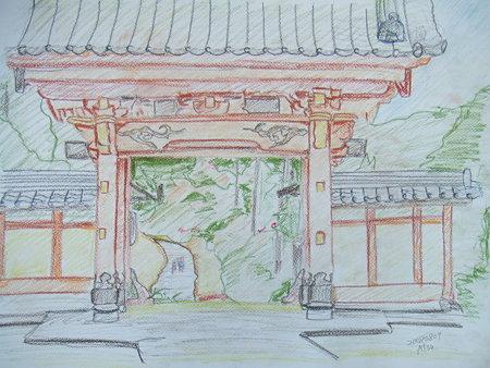 パステル画「徳星寺」
