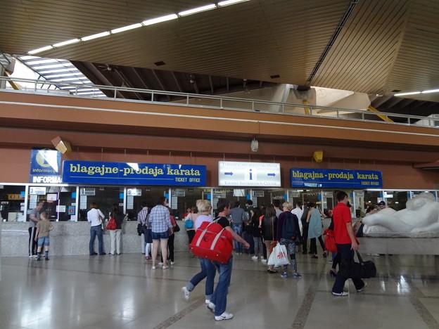 ザグレブバスターミナルのチケット売り場
