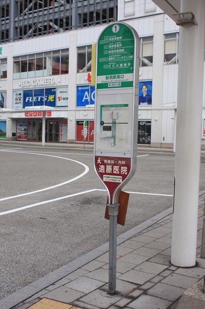 新潟駅南口 1番のりばバス停
