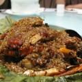 写真: 夏味館の蟹おこわ