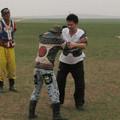 写真: モンゴル相撲
