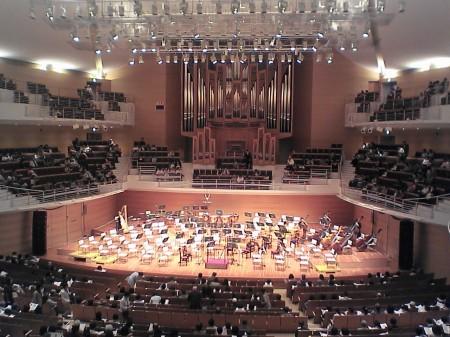 本番を待つりゅ~とぴあコンサートホール