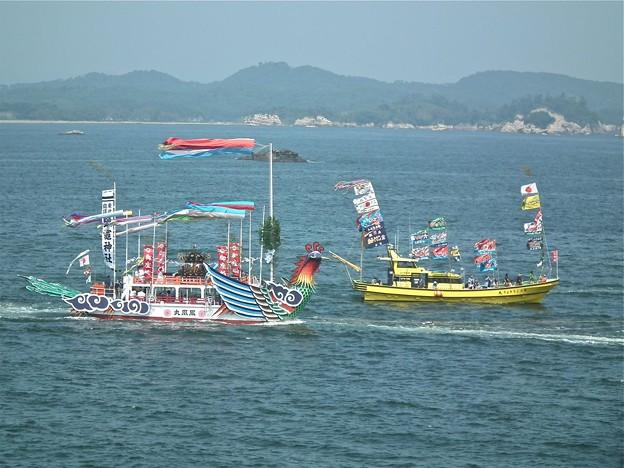 花渕浜漁港に向けて