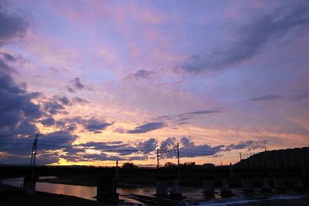 雲渡る夕映