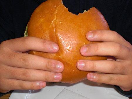 ハンバーガーの大きさ