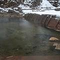 写真: 尻焼温泉 露天 川の湯 24時間無料