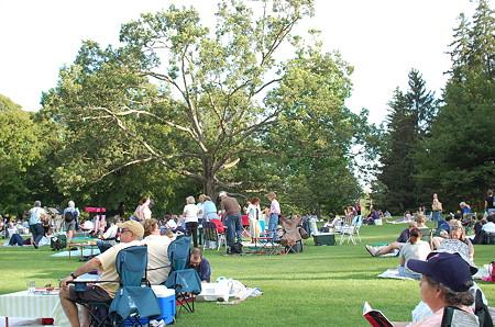 タングルウッド音楽祭芝生席