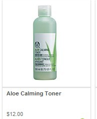 The BodyShop Aloe Calming Toner
