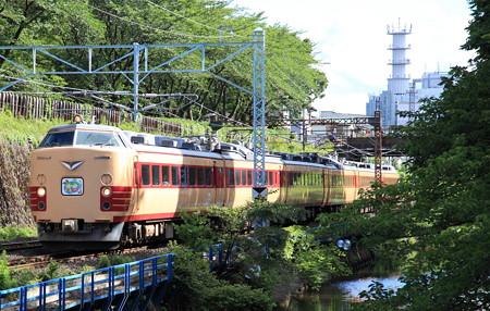 485系仙山線さくらんぼ号霞城公園2