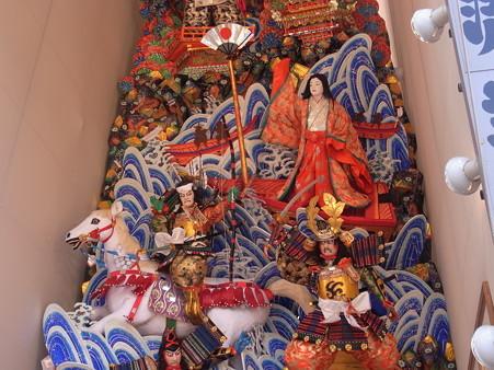13 博多祇園山笠 飾り山 中州流 源平扇的誉(げんぺいおうぎのまとのほまれ)2012年 写真画像2