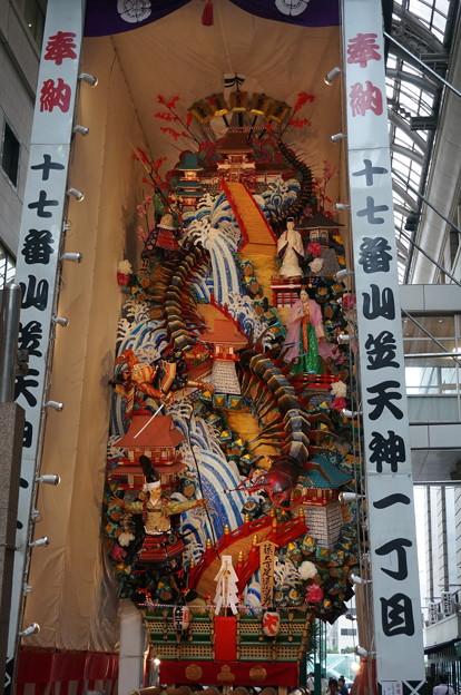 17 2014年 博多祇園山笠 飾り山笠 藤太百足退治勇 (3)