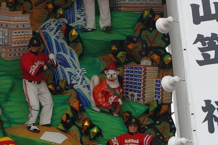10 2014年 博多祇園山笠 福岡ドーム 飾り山笠 常勝玄界鷹 (9)