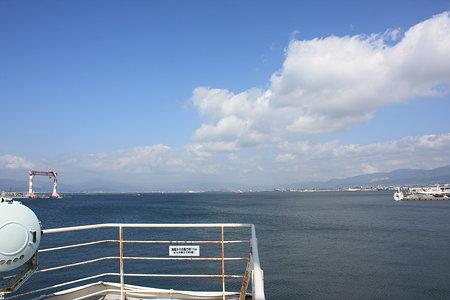 青函連絡船「摩周丸」から見た函館港
