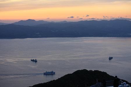 夕焼けの函館湾
