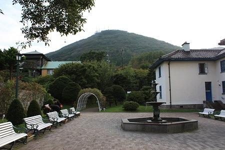 旧イギリス領事館庭園と函館山
