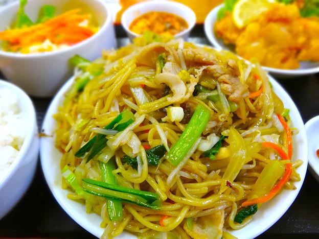てんしん中華店 日替ランチ 焼きそば yakisoba fried noodles広島市南区的場町 Tianjin
