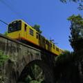 Photos: 黄色い電車、橋を渡る。@三岐鉄道北勢線楚原駅~麻生田駅