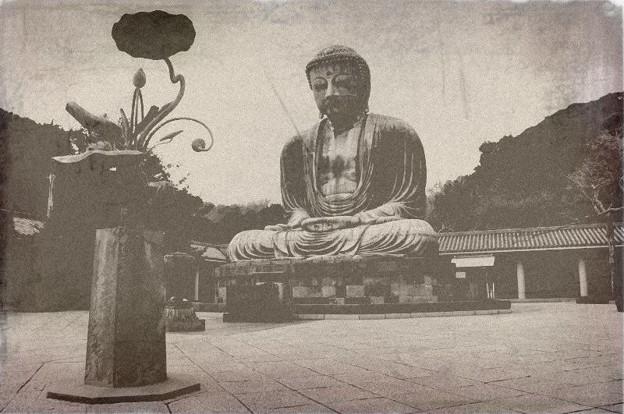 鎌倉の大仏(レトロ風)