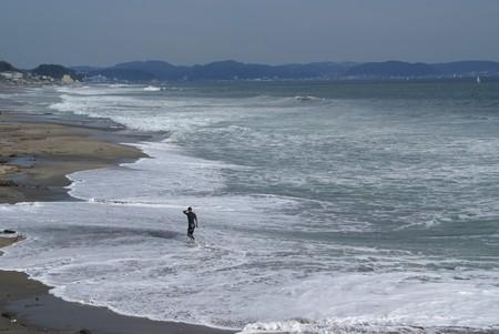 寄せては引いて・・大きな浜辺・・・