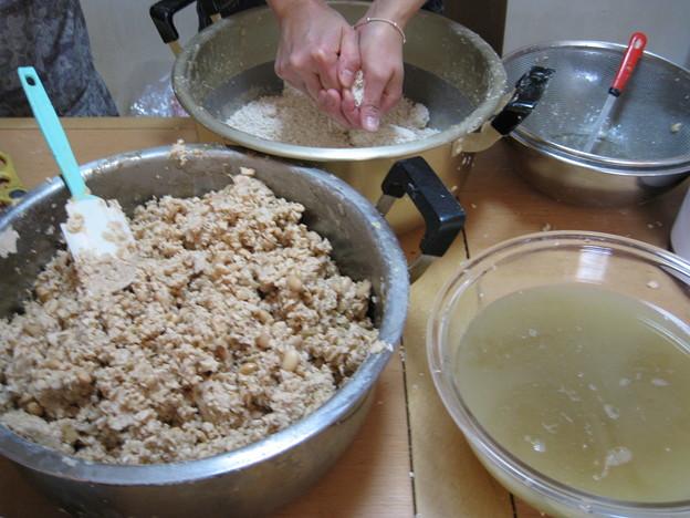 Photos: 味噌作り
