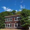 Photos: 青空と木造校舎♪