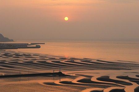 御輿来海岸の夕日