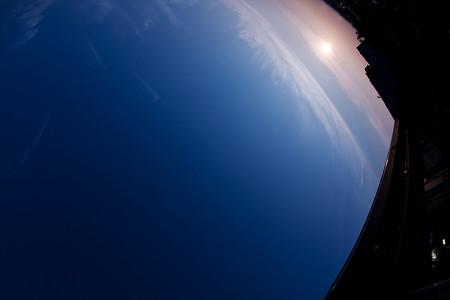 宇宙からの日の出