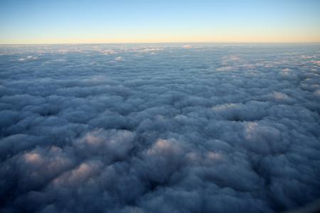 夕焼けの雲海
