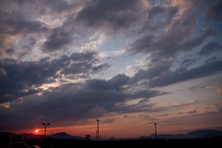 高松の夕日