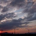 写真: 高松の夕日