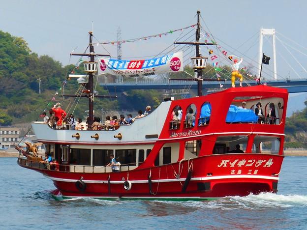 新緑のしまなみ海道:瀬戸内の潮風に吹かれて海賊船バイキングエース号でアドベンチャークルージング♪