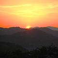 写真: 千光寺(山)公園の展望台からの瀬戸の夕日
