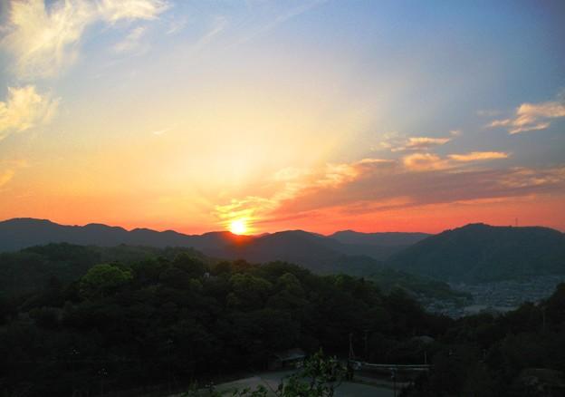 さつき亭から観た瀬戸の夕日-6