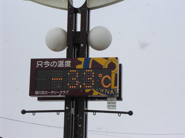 只今の気温-3.3℃